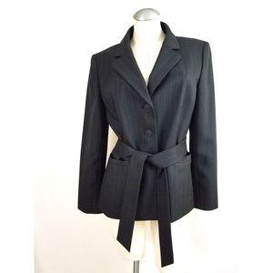 Le Suit Jackets & Coats - Le Suit Size 10 Gray Purple Pinstripe Pant Suit